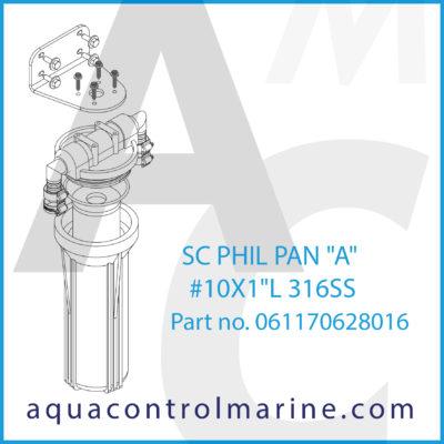 "SC PHIL PAN ""A"" #10X1""L 316SS"