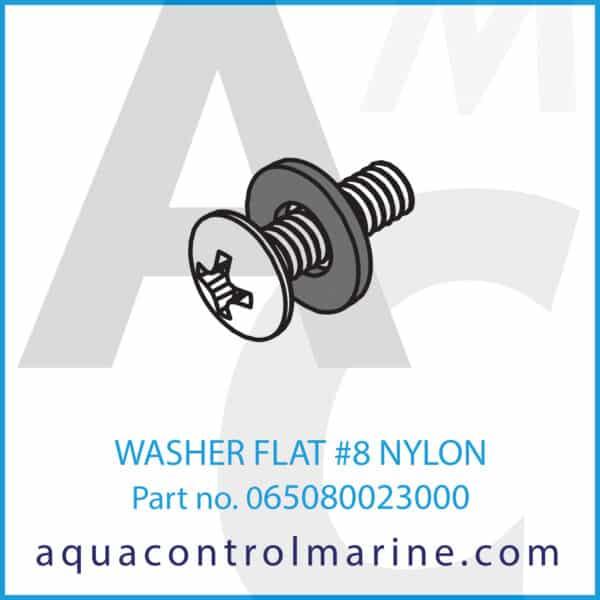 WASHER FLAT #8 NYLON