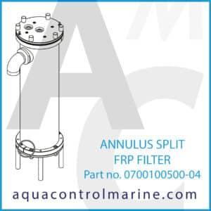 ANNULUS SPLIT FRP FILTER