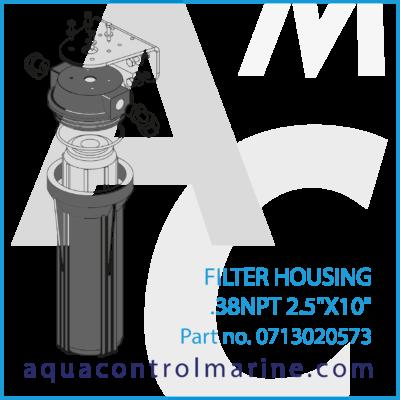 FILTER HOUSING .38NPT 2.5 X 10