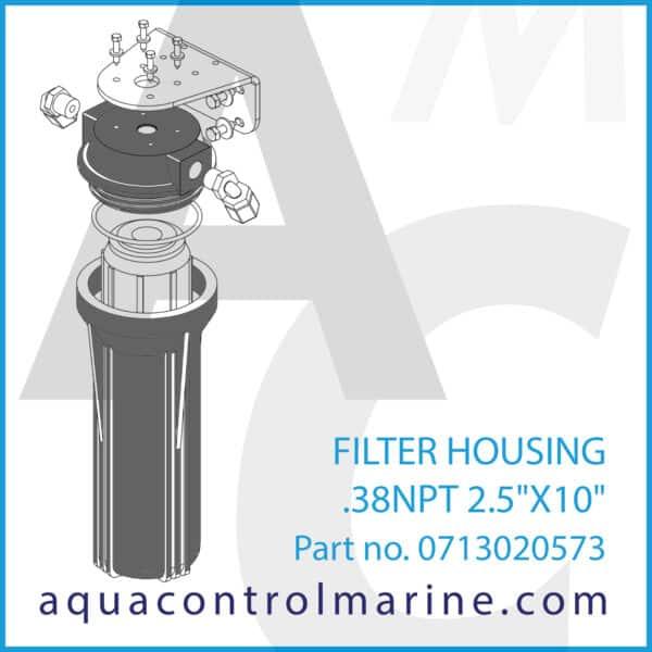 FILTER HOUSING .38NPT 2.5X10