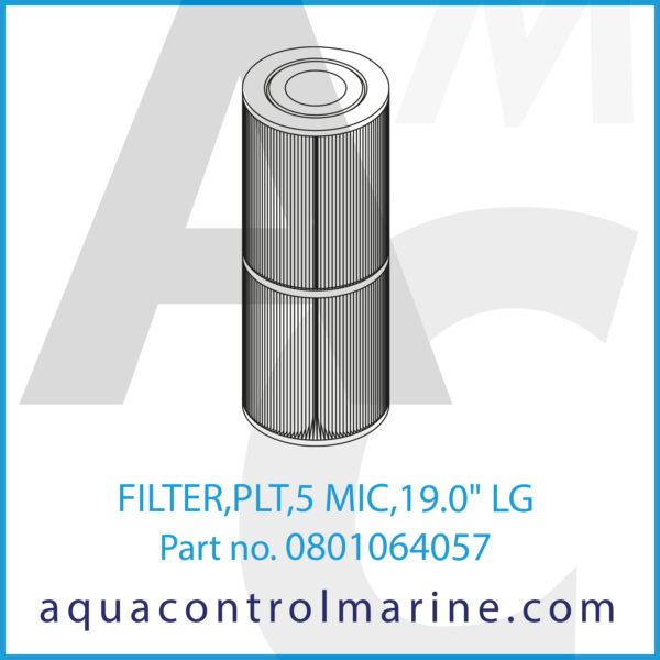 FILTER,PLT,5 MIC,19.0inch LG