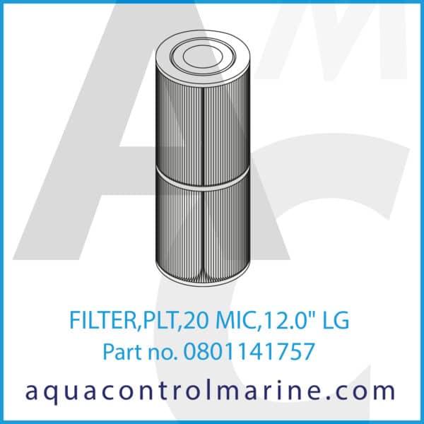 FILTER,PLT,20 MIC,12.0inch LG