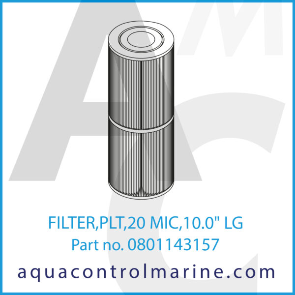 FILTER,PLT,20 MIC,10.0inch LG