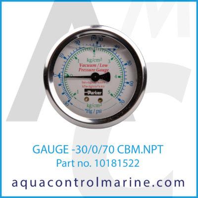 GAUGE -30-0-70 CBM.NPT