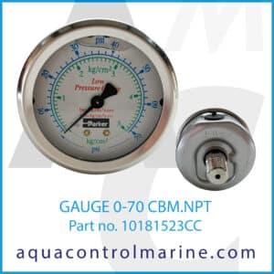 GAUGE 0-70 CBM.NPT