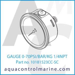 GAUGE 0-70PSI_BAR_KG 1_4NPT