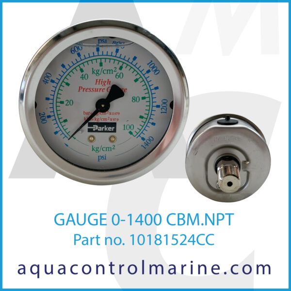 GAUGE 0-1400 CBM.NPT