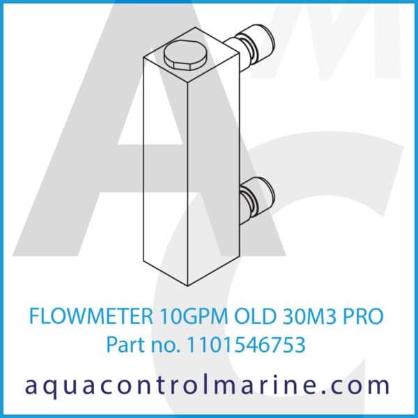 FLOWMETER 10GPM OLD 30M3 PRO