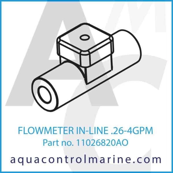 FLOWMETER IN-LINE .26-4GPM