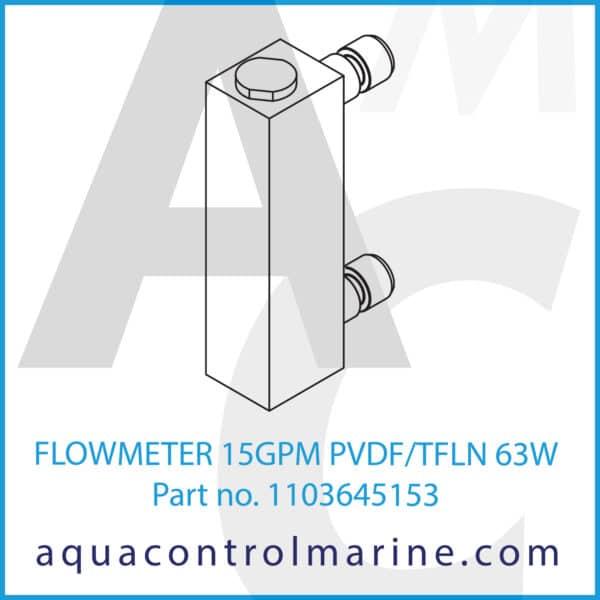 FLOWMETER 15GPM PVDF_TFLN 63W