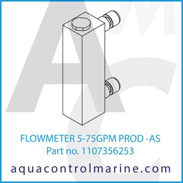 FLOWMETER 5-75GPM PROD -AS