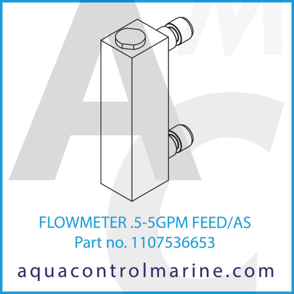FLOWMETER .5-5GPM FEED_AS