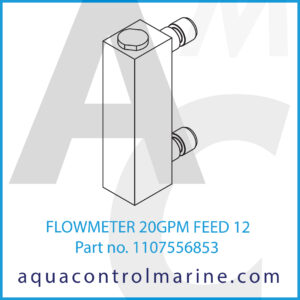 FLOWMETER 20GPM FEED 12
