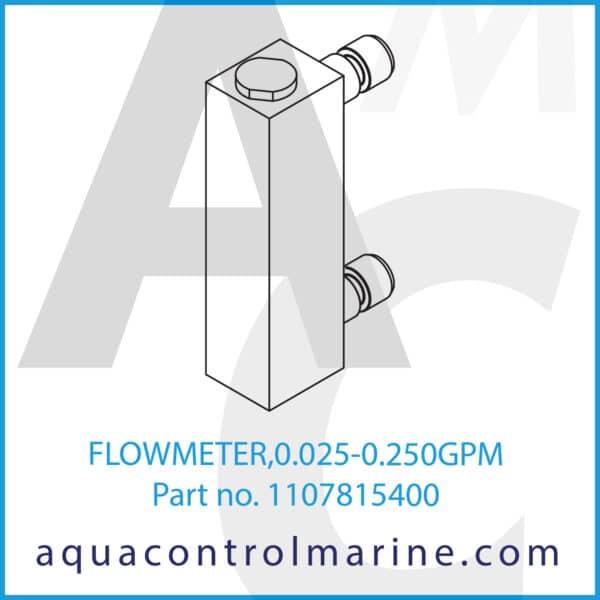 FLOWMETER,0.025-0.250GPM