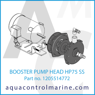 BOOSTER PUMP HEAD HP75 SS