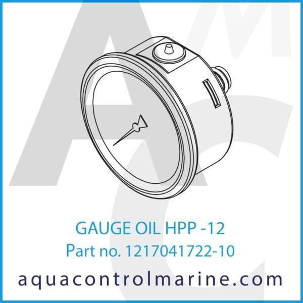 GAUGE OIL HPP -12