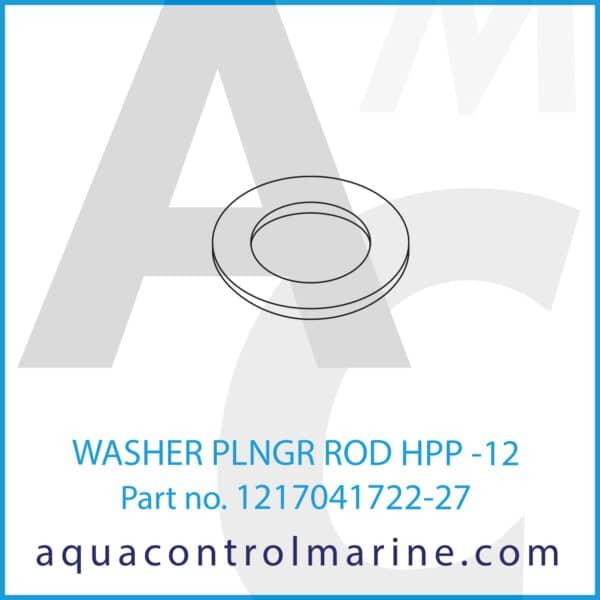 WASHER PLNGR ROD HPP -12