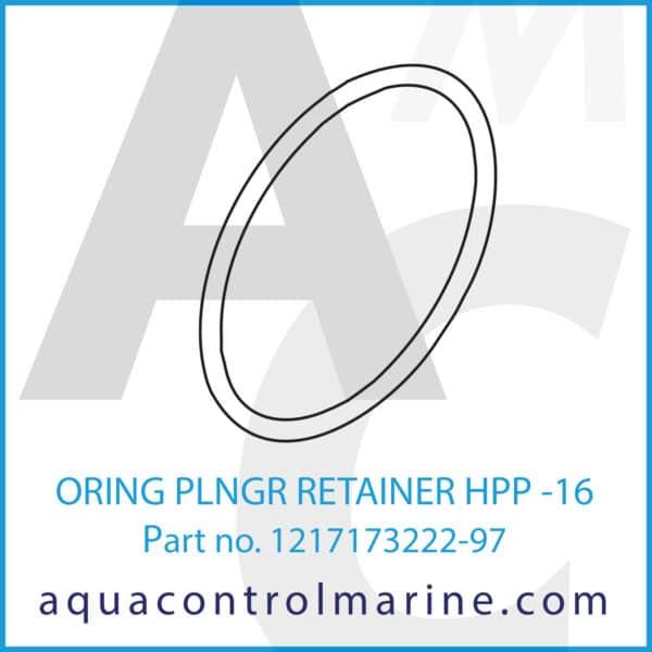 ORING PLNGR RETAINER HPP -16