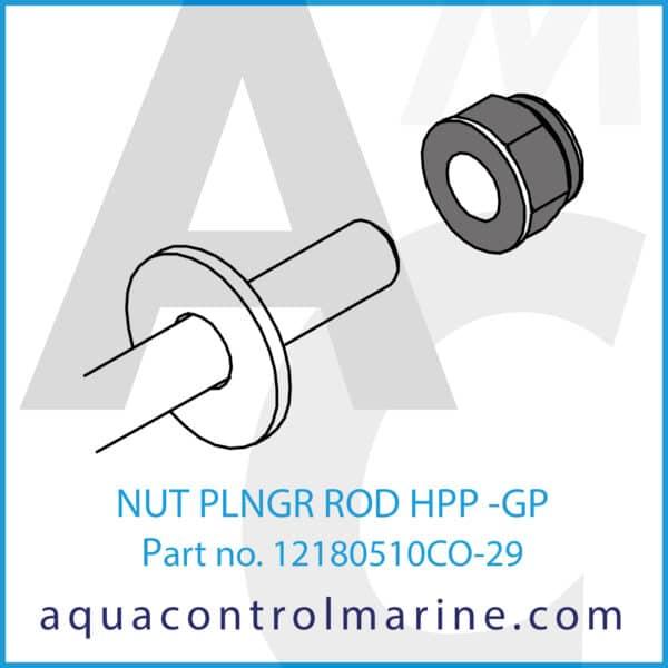 NUT PLNGR ROD HPP -GP