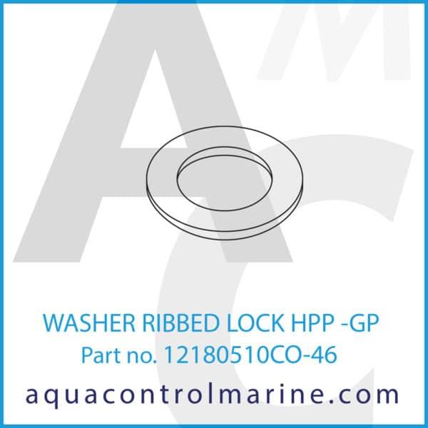 WASHER RIBBED LOCK HPP -GP