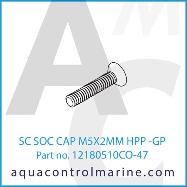 SC SOC CAP M5X2MM HPP -GP