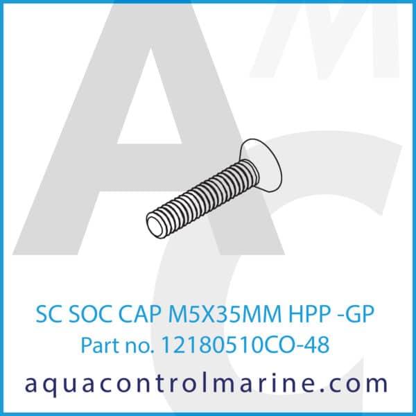 SC SOC CAP M5X35MM HPP -GP