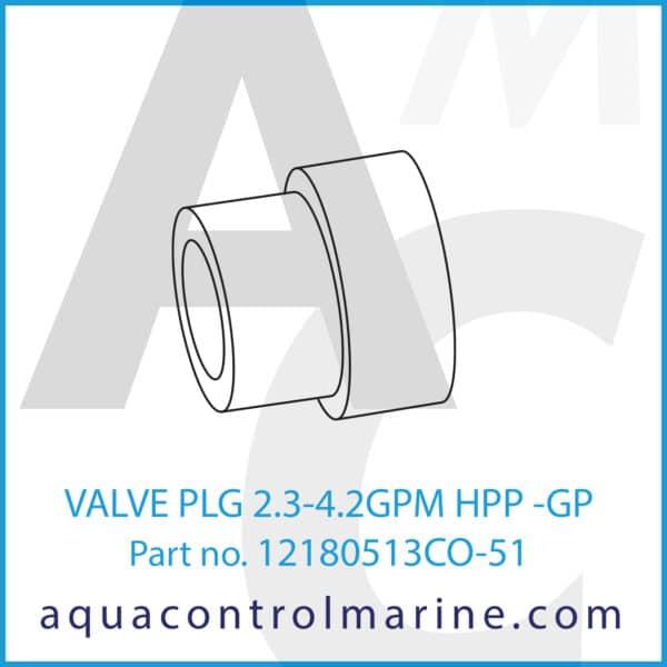 VALVE PLG 2.3-4.2GPM HPP -GP