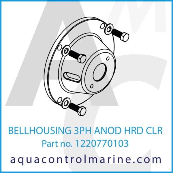 BELLHOUSING 3PH ANOD HRD CLR