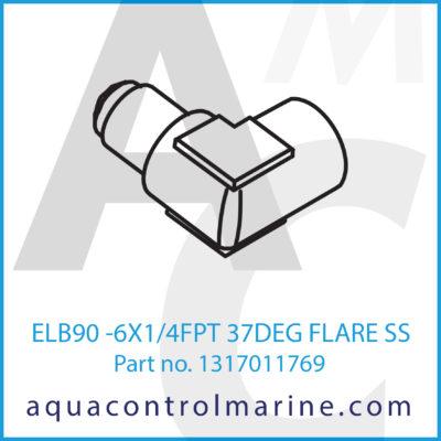 ELB90 -6 X 1.4 FPT 37DEG FLARE SS