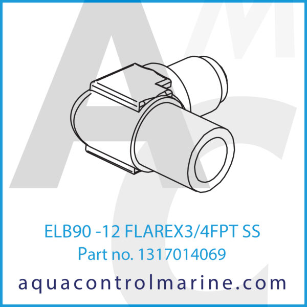 ELB90 -12 FLAREX3_4FPT SS