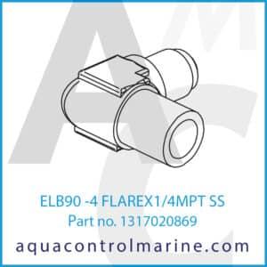 ELB90 -4 FLAREX1_4MPT SS
