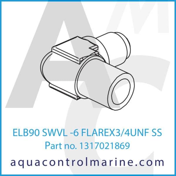 ELB90 SWVL -6 FLAREX3_4UNF SS