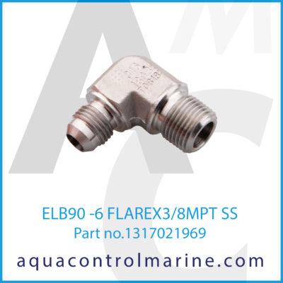 ELB90 -6 FLAREX3/8MPT SS