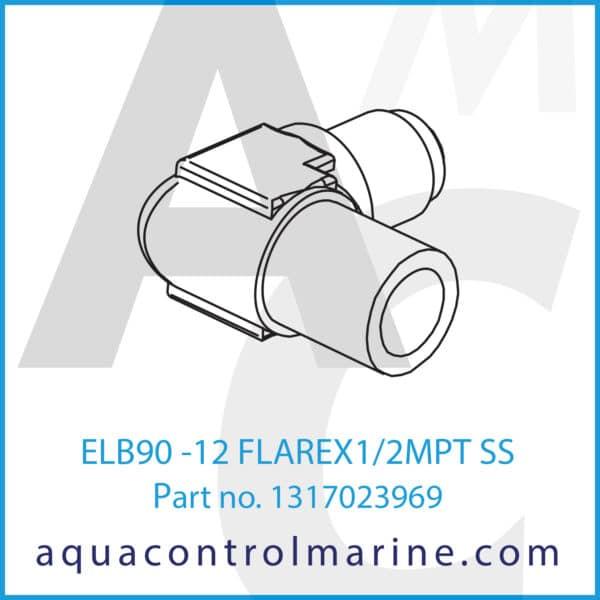 ELB90 -12 FLAREX1_2MPT SS