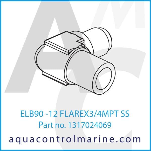 ELB90 -12 FLAREX3_4MPT SS