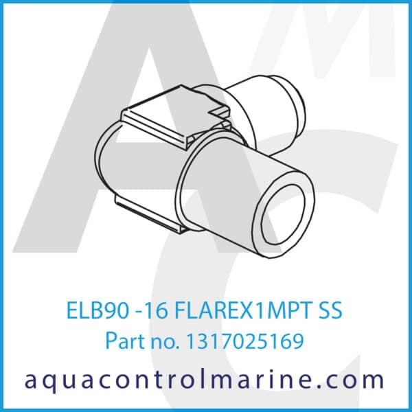 ELB90 -16 FLAREX1MPT SS