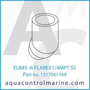 ELB45 -6 FLAREX1_4MPT SS