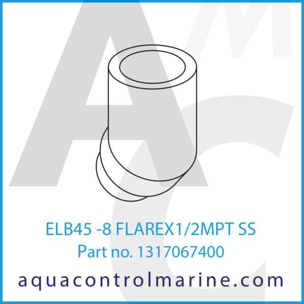 ELB45 -8 FLAREX1_2MPT SS