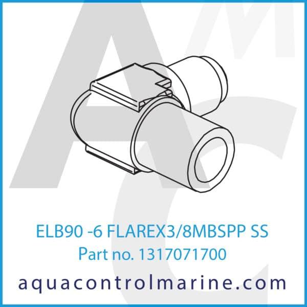ELB90 -6 FLAREX3_8MBSPP SS