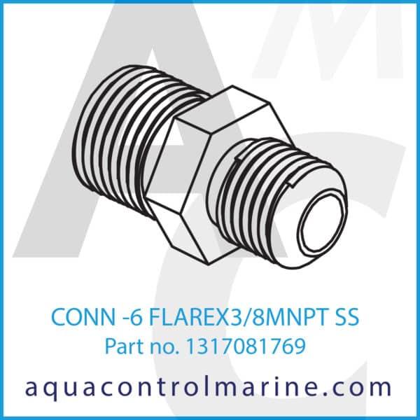 CONN - 6 FLAREX3_8MNPT SS
