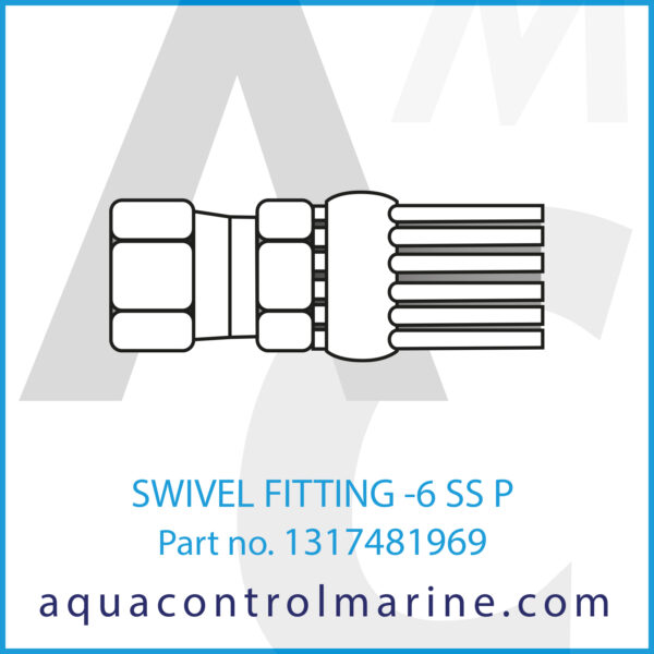 SWIVEL FITTING -6 SS P