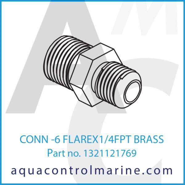 CONN -6 FLAREX1_4FPT BRASS