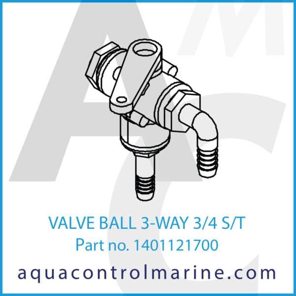 VALVE BALL 3-WAY 3_4 S_T