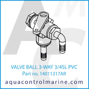 VALVE BALL 3-WAY 3_4SL PVC