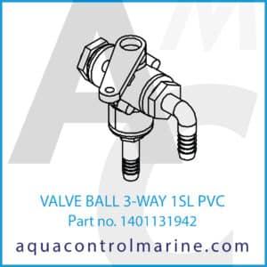 VALVE BALL 3-WAY 1SL PVC