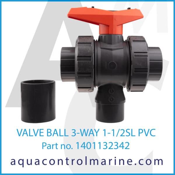 VALVE BALL 3-WAY 1-1_2SL PVC