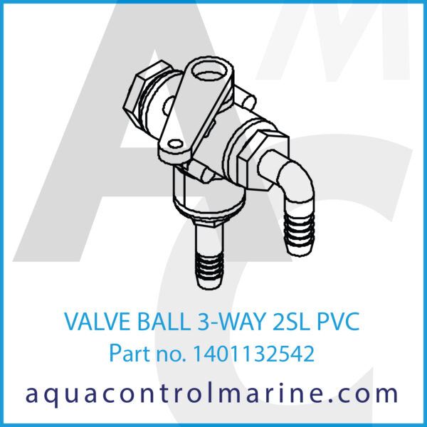 VALVE BALL 3-WAY 2SL PVC