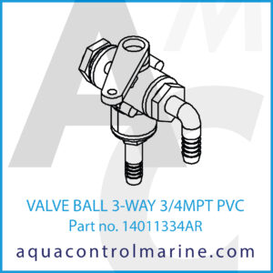 VALVE BALL 3-WAY 3_4MPT PVC