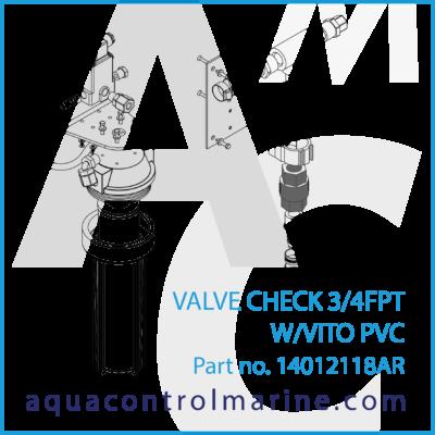 VALVE CHECK 3/4 FPT W/VITO PVC